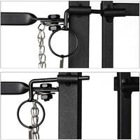 Relaxdays GOTH Metal Garden Gate with Posts, Antique Style, 120 cm Tall, 90 cm Long, Arched Garden Door, Black