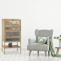 Relaxdays Wooden Hamster Cage, 3 Storeys, Windows, Grid Roof, Rodent Pen, XXL, HWD: 120x60x40 cm, Natural
