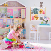 Relaxdays Wall Shelf Unit With 3 Tiers, Bathroom Shelving; Kitchen Rack, Bookshelf, Bamboo, MDF, HWD 54x60x15cm, White/Natural
