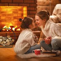 Relaxdays Firewood Rack, Round Log Cradle, Stacking Aid, Steel, Indoor Use, HxWxD 65x61x26 cm, Black