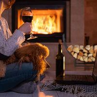 Relaxdays Firewood Rack, Half-Round, Indoors, Powder-Coated Steel, Log Cradle, HxWxD 55x92x21 cm, Black