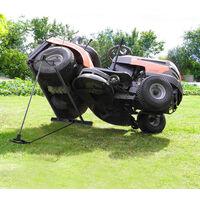 Relaxdays Lawn Mower Jack, 400kg, Maintenance Lifting Tool Ride-On Garden Tractor, Adjustable Tilt/Height, Steel, Black