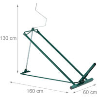 Relaxdays Lawn Mower Jack, 400kg, Maintenance Lifting Tool Ride-On Garden Tractor, Adjustable Tilt/Height, Steel, Green