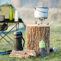 Relaxdays Folding Camping Table with Bag, Lightweight, Outdoor Furniture, HWD 51x73.5x54.5cm, Aluminium, Black