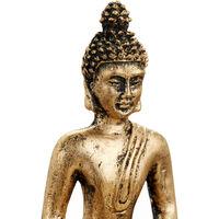 Relaxdays Zen Garden Buddha Statue, Tranquillity Set, Pebbles, Sand, Joss Stick, Tea Light, Feng Shui Decoration, Black