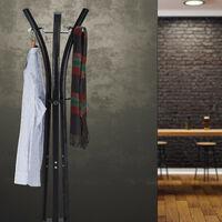 "Relaxdays Coat Rack ""Style"", Sturdy Metal Standing Garment Rack for Jackets & Coats, 175 cm, Black"