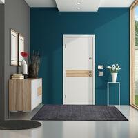 Relaxdays Grey Dirt Trapping Mat, Indoor Doormat, Large Dirt Catcher, Thin Door Mat, 120x180 cm, Black-Grey
