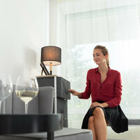 Relaxdays Shelving System, Chest of Drawers, Standing Shelf with Boxes, HxWxD: 76 x 20 x 48 cm, Metal and Wood, Grey