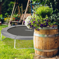 Relaxdays Trampoline Padded Surround, PVC Spring Cover, Trampoline Accessory, Ø 244 cm, Anthracite