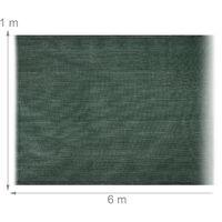 Relaxdays garden screen, privacy fence screening, 1 m high, balcony cover, patio, HDPE, 1 x 6 metres, dark green