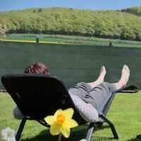 Relaxdays garden screen, privacy fence screening, 2 m high, balcony cover, patio, HDPE, 2 x 6 metres, dark green