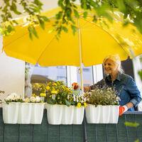 Relaxdays garden screen, privacy fence screening, 2 m high, balcony cover, patio, HDPE, 2 x 20 metres, dark green