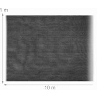 Relaxdays garden screen, privacy fence screening, windscreen, netting, balcony cover, patio, HDPE, 1 x 10 m, anthracite