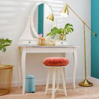 Relaxdays pedal bin, 3 litres, soft-closing mechanism, removable inner bin, bathroom waste bin, metal, red cosmetic bin