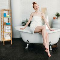 Relaxdays Bathroom Rack with 3 Shelves, Free-Standing, 85 x 35.5 x 35.5 cm, Walnut Wood, Shelving Unit, Brown