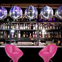 Relaxdays Bar Stool Set of 2, Height-Adjustable, Swivel, 120 kg, Metal Bistro Chair, HxWxD: 101 x 45 x 40 cm, Pink