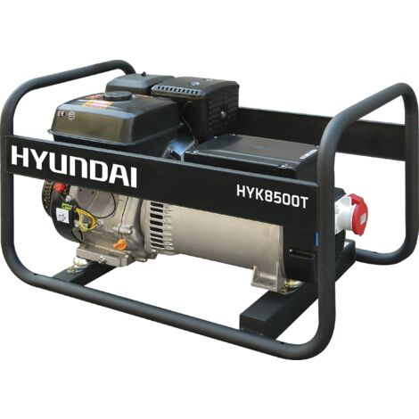 HYUNDAI-HY-HYK8500T-KIT GENERADOR HYUNDAI GASOLINA RENTAL 380v sin alternador
