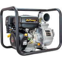 Motobomba IT-GP100 gasolina de Aguas limpias motor IC270 OHVcon un diámetro de aspiración y expulsión de 100mm, con un caudal de0 m3/h (1000L/min), y una altura máxima de 25m, capacidad combustible 6,5 L