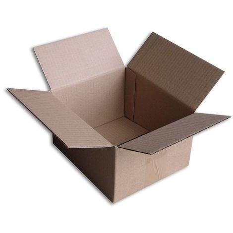 Lot de 10 Boîtes carton (N°15) format 210x180x120 mm