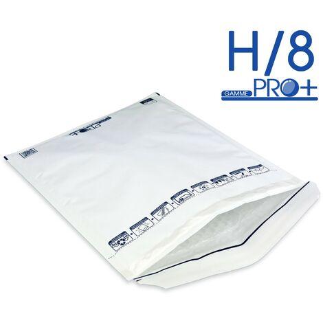 Lot de 200 Enveloppes à bulles PRO BLANCHES H/8 format 260x360 mm