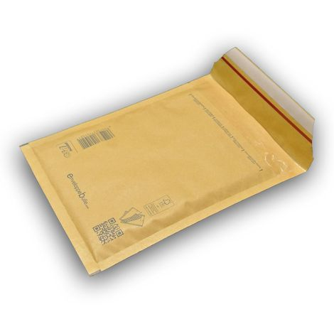 Lot de 10 Enveloppes à bulles PRO MARRON B/2 format 110x215 mm