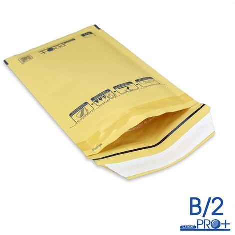 Lot de 50 Enveloppes à bulles PRO MARRON B/2 format 110x215 mm