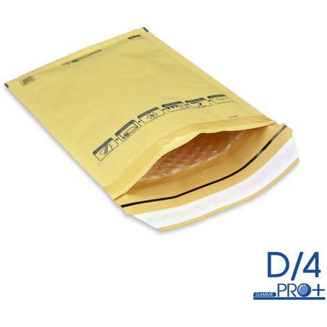 Lot de 10 Enveloppes à bulles PRO MARRON D/4 format 170x265 mm