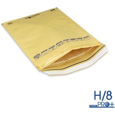 Lot de 10 Enveloppes à bulles PRO MARRON H/8 format 260x360 mm