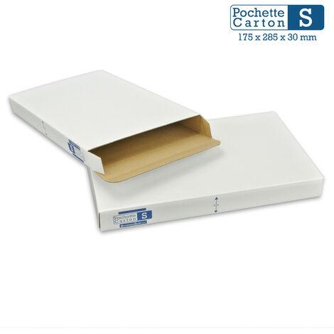 Lot de 5 Boîtes Pochettes Carton XS - hauteur 3cm - format 140x225 mm