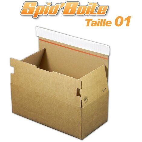 Lot de 500 Boîte postale autocollante SPID'BOITE 01 format 268x135x100 mm
