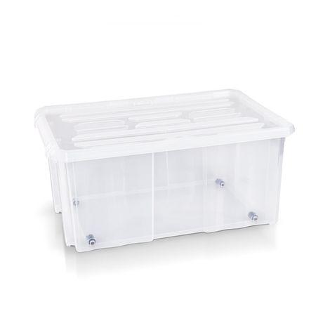 Aufbewahrungsbox + Deckel 60 x 40 x 26.5 cm transparent