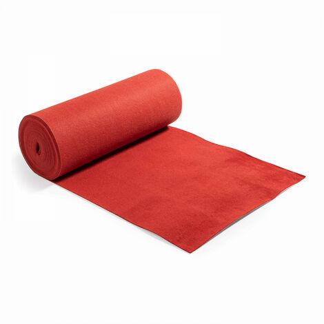 Rouleau de moquette 1x25 m tapis rouge 250 g/m2