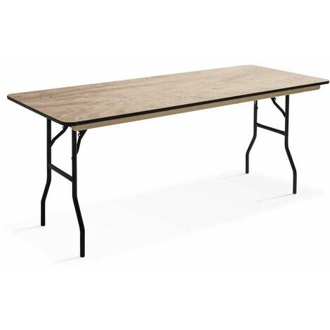 Table pliante en bois 200cm 10 places