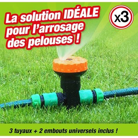 STANG Arroseurs De Jardin Trois Buse Rotatif Durable /à Leau Arroseur De Tuyau De Tuyau De Bras Syst/èMe Darrosage Deau Rotatif Automatique /à 360 Degr/éS