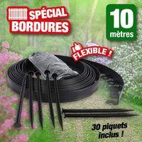 Bordure de jardin flexible spéciale massifs, allées... 10 mètres de long