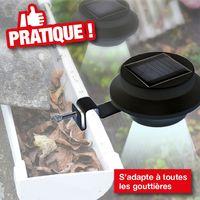 Pcs 6 Pour Noir Gouttière Clôture Lampes Solaires 41180 cLj34A5Rq