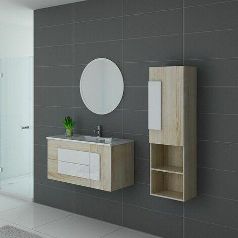 Meuble de salle de bain CASTELLO 1000 Scandinave et blanc