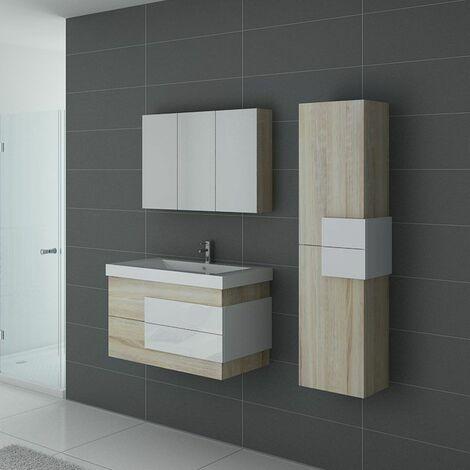 Meuble de salle de bain ARCOLA Scandinave et Blanc