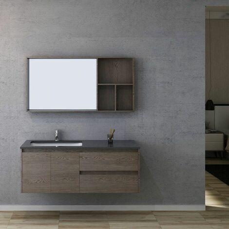 Meuble salle de bain BERGAME 1300 Chêne Gris