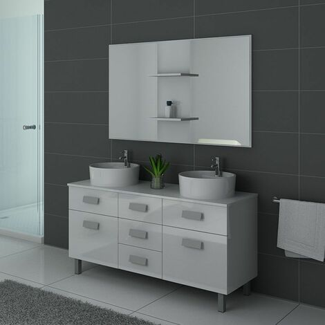 Meuble de salle de bain DIS911 Blanc