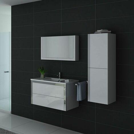Meuble de salle de bain DIS025-900 Blanc