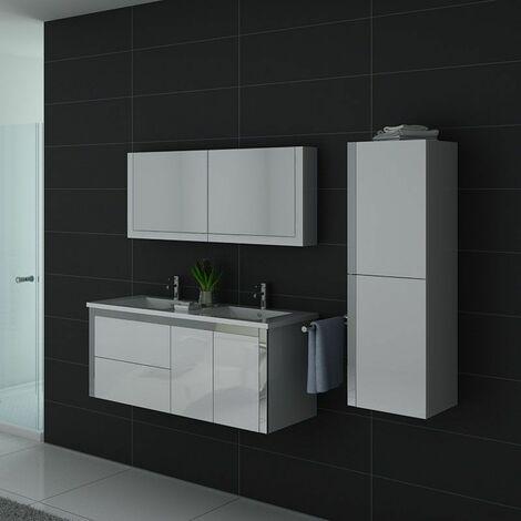 Meuble de salle de bain DIS025-1200 Blanc