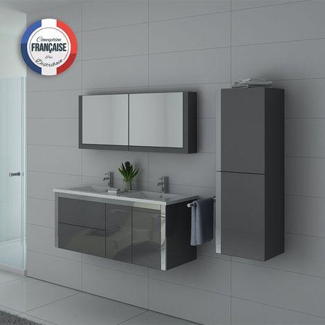 Meuble de salle de bain DIS025-1200 Gris taupe