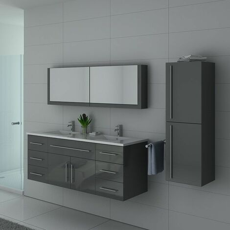 Meuble de salle de bain DIS749 Gris Taupe