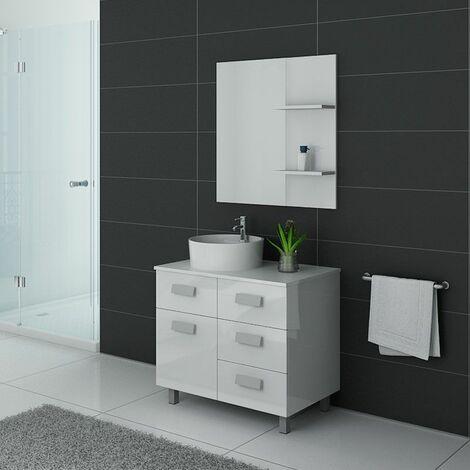 Meuble de salle de bain MILAN Blanc