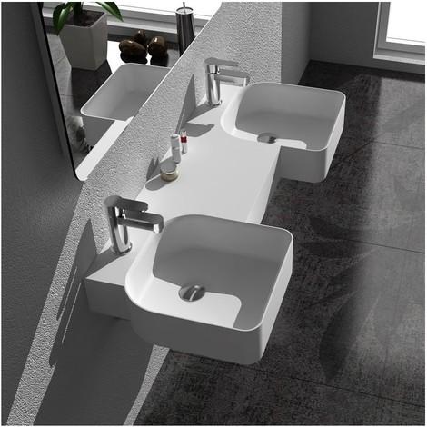 Double plan vasque solid surface Réf : SDWD38190