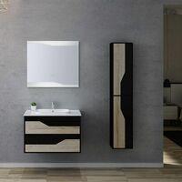 Meuble de salle de bain URBINO 800 Scandinave et Noir