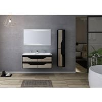 Meuble de salle de bain URBINO 1200 Scandinave et Noir