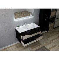 Meuble de salle de bain URBINO 1000 Scandinave et Noir