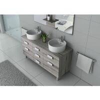 Meuble de salle de bain DIS911 Chêne Gris